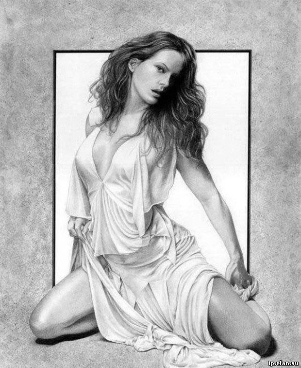 рисунки женщин карандашом: